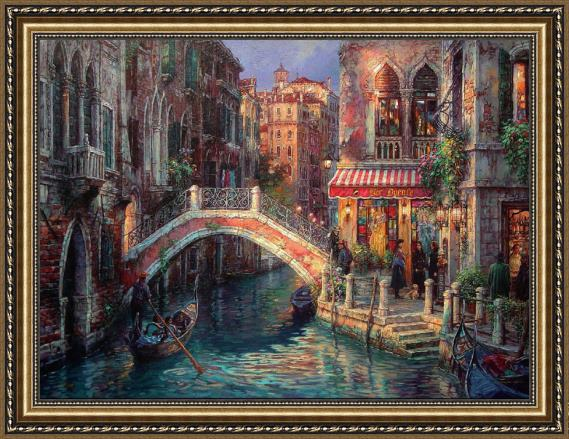 Cao Yong Venice Over the bridge Framed Painting