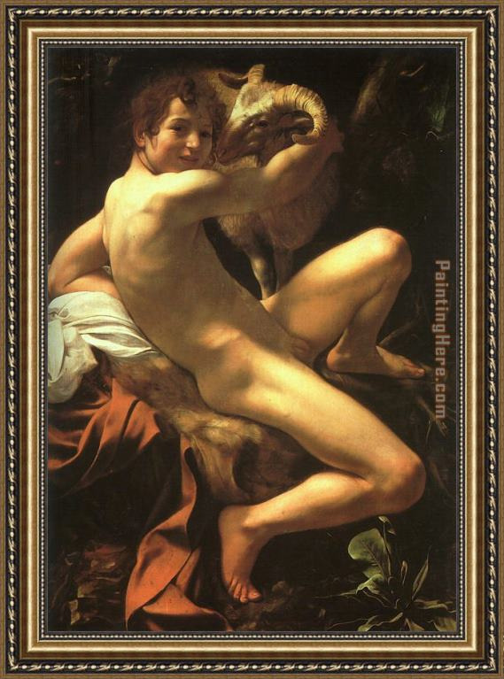 Caravaggio St. John the Baptist Framed Painting