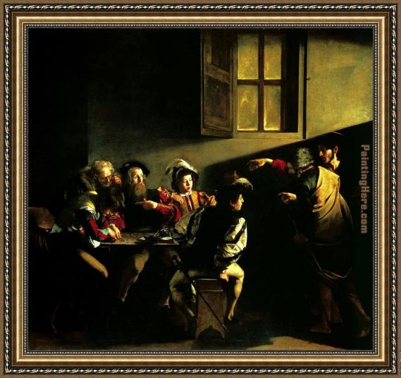 Caravaggio The Calling of Saint Matthew Framed Painting
