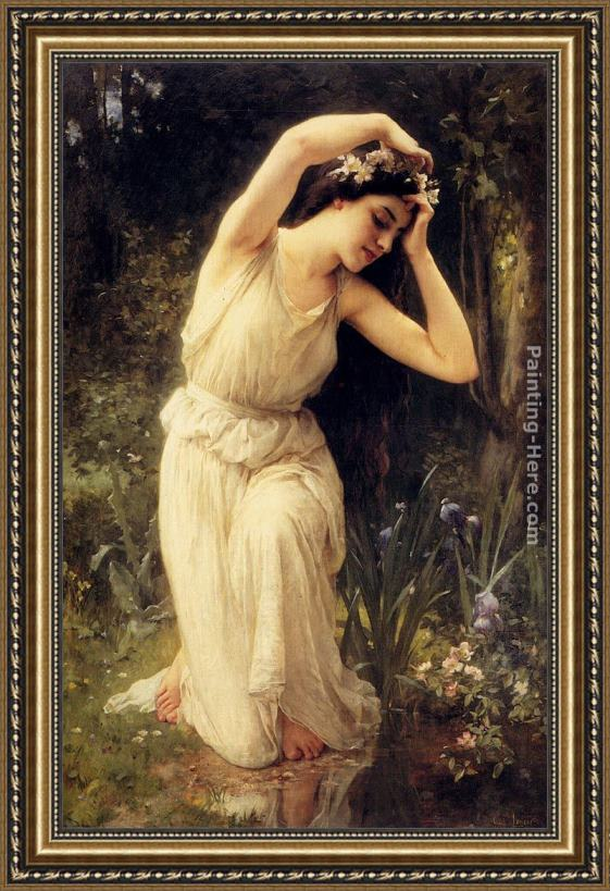 Charles Amable Lenoir A Nymph In The Forest Framed Painting