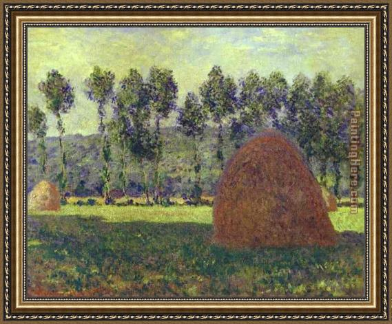 Claude Monet Haystack at Giverny Framed Painting