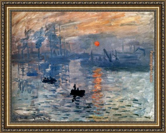 Claude Monet Impression Sunrise Framed Painting