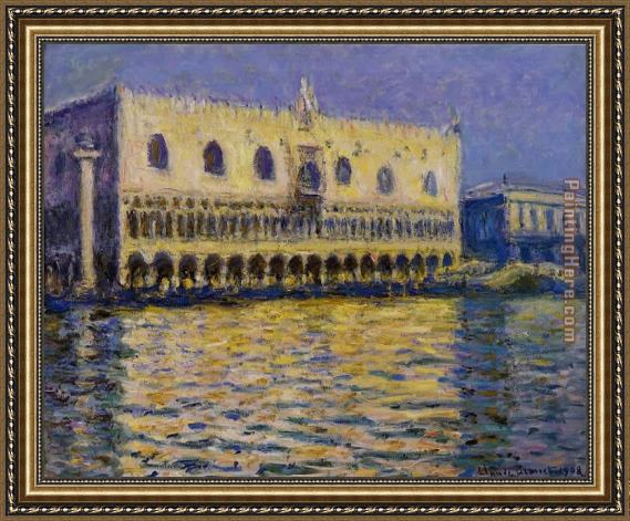 Claude Monet The Palazzo Ducale Framed Painting