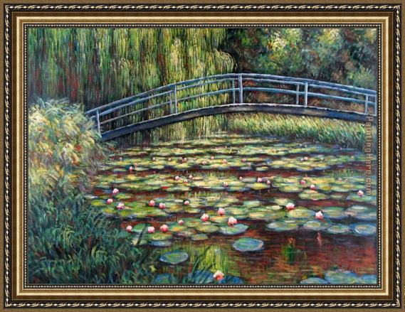 Claude Monet The Water Lily Pond Pink Harmony Framed Painting