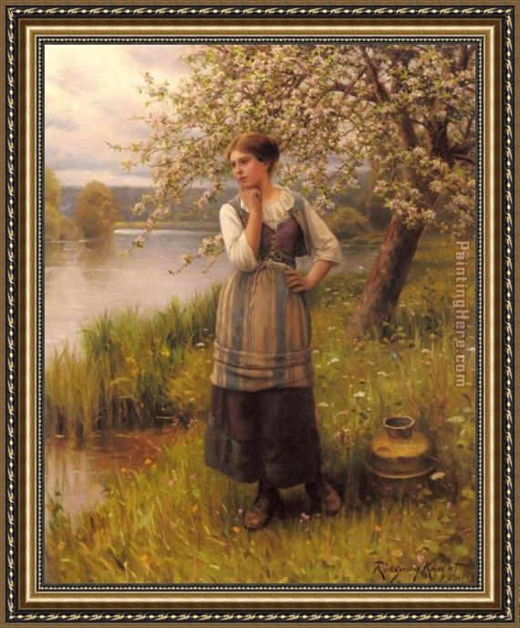 Daniel Ridgway Knight Beneath The Apple Tree Framed Painting