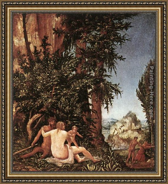 Denys van Alsloot Landscape With Satyr Family Framed Painting