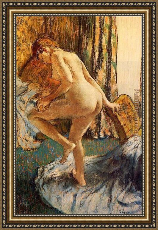 Edgar Degas After the Bath Framed Painting