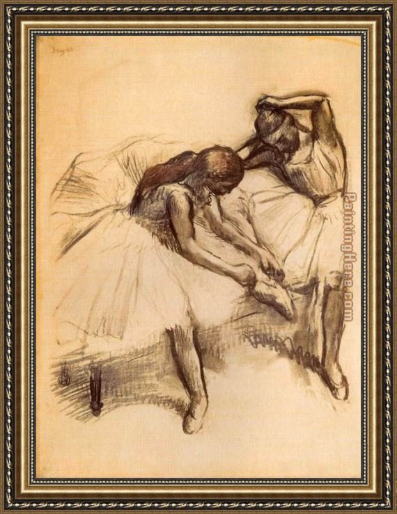 Edgar Degas Two Dancers V Framed Painting