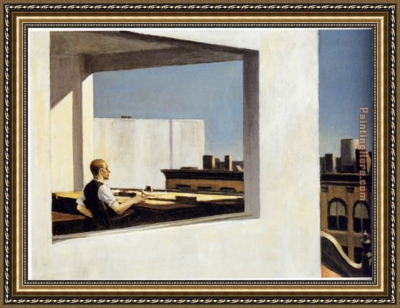 Edward Hopper Office in a Small City Framed Painting