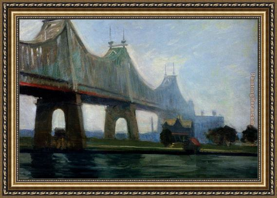 Edward Hopper Queensborough Bridge Framed Painting