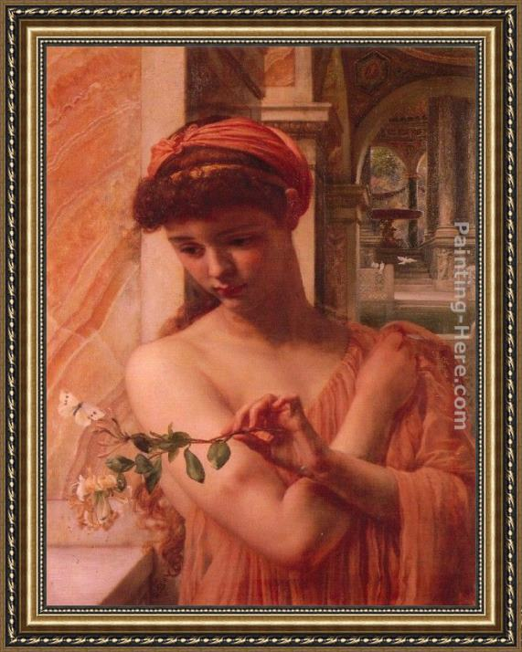 Edward John Poynter Psyche in the temple of love Framed Painting