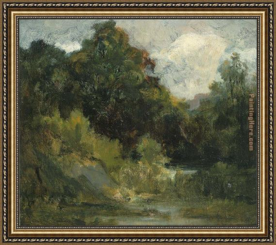 Edward Mitchell Bannister Landscape (trees) Framed Painting