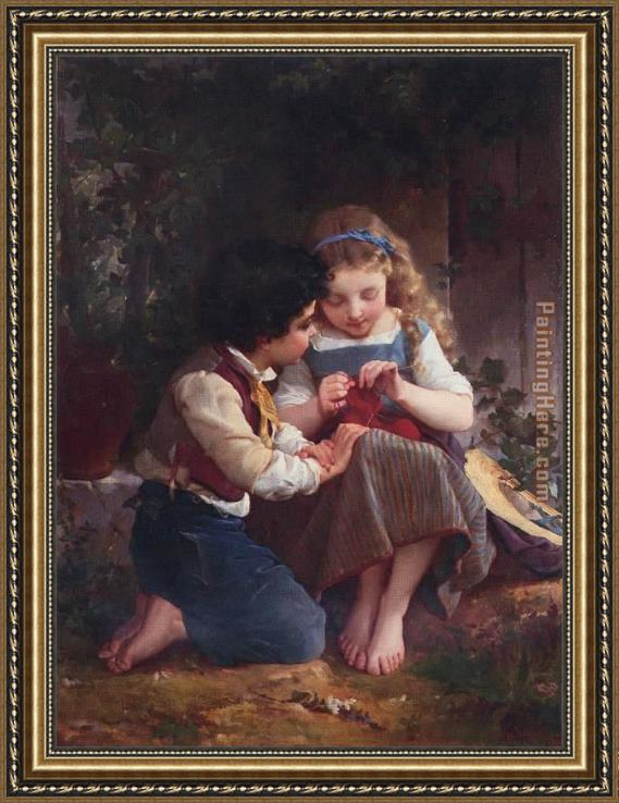 Emile Munier A Special Moment Framed Painting