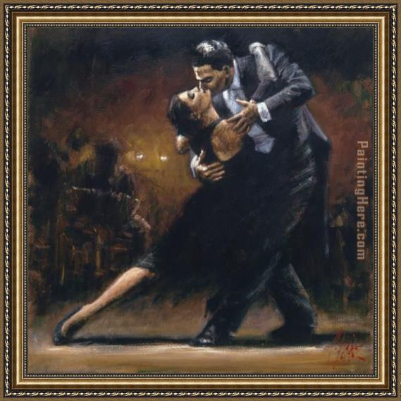 Fabian Perez Study for Tango V Framed Painting