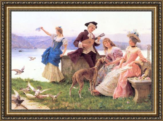 Federico Andreotti A Day's Outing Framed Painting