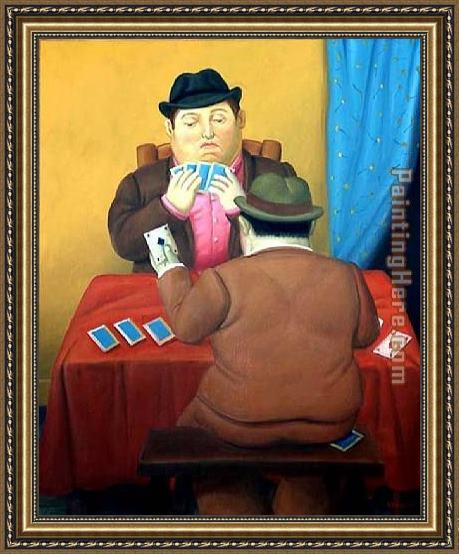 Fernando Botero Card Players Framed Painting