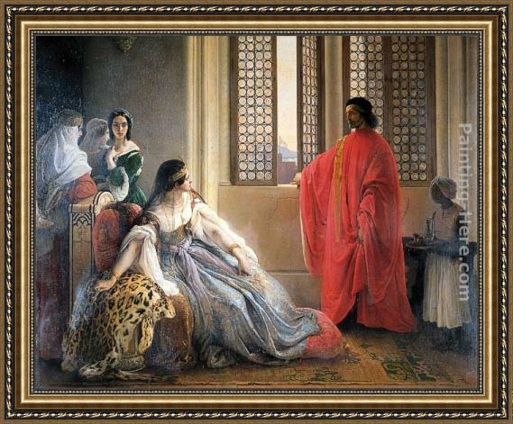 Francesco Hayez Caterina Cornaro Deposed from the Throne of Cyprus Framed Painting