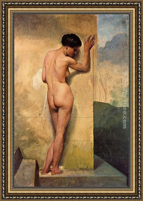 Francesco Hayez Nudo di donna stante Framed Painting