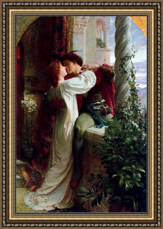 Frank Dicksee Romeo And Juliet Cropped Framed Painting For