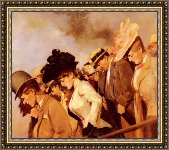 Franz Dvorak At The Races Framed Painting