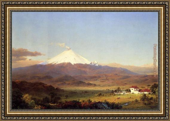Frederic Edwin Church Cotopaxi Framed Painting