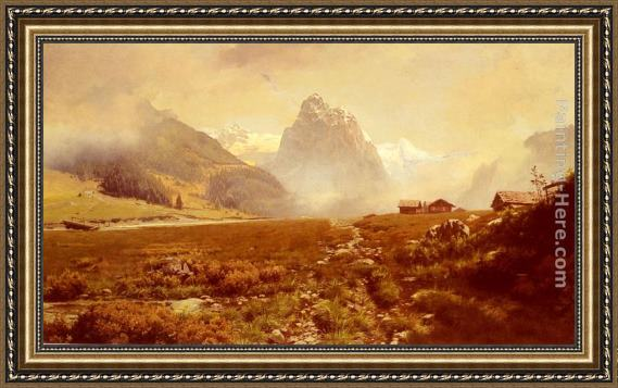 Frederick Judd Waugh The Swiss Alps Framed Painting
