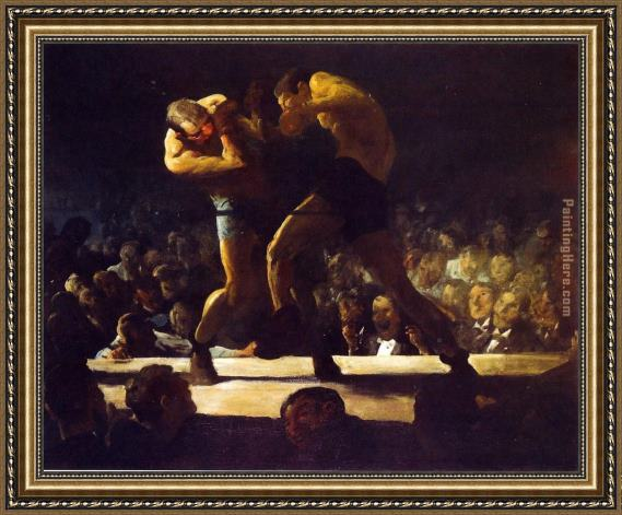 George Bellows Club Night Framed Painting