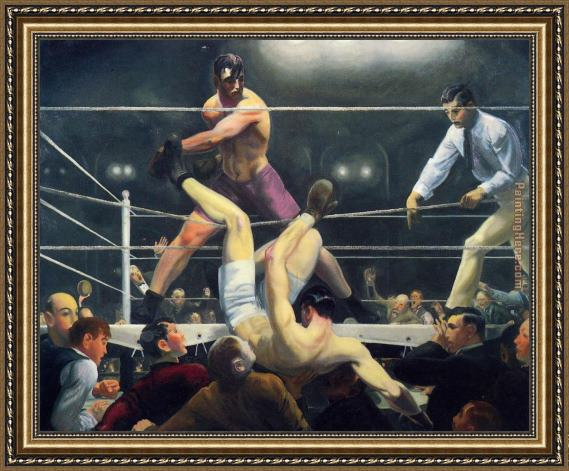George Bellows Dempsey and Firpo Framed Painting