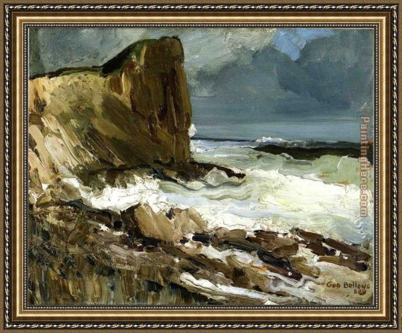 George Bellows Gull Rock and Whitehead Framed Painting