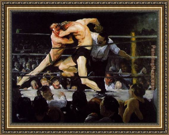 George Bellows Stag at Sharkey's Framed Painting