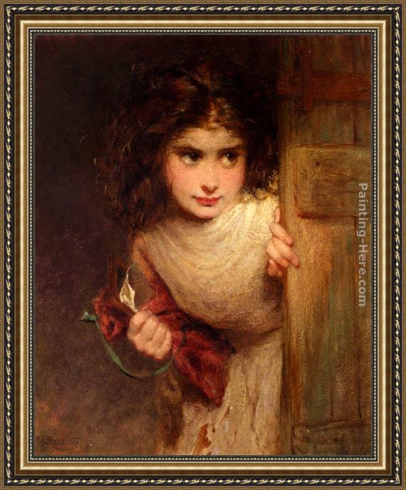 George Elgar Hicks Home From School Framed Painting