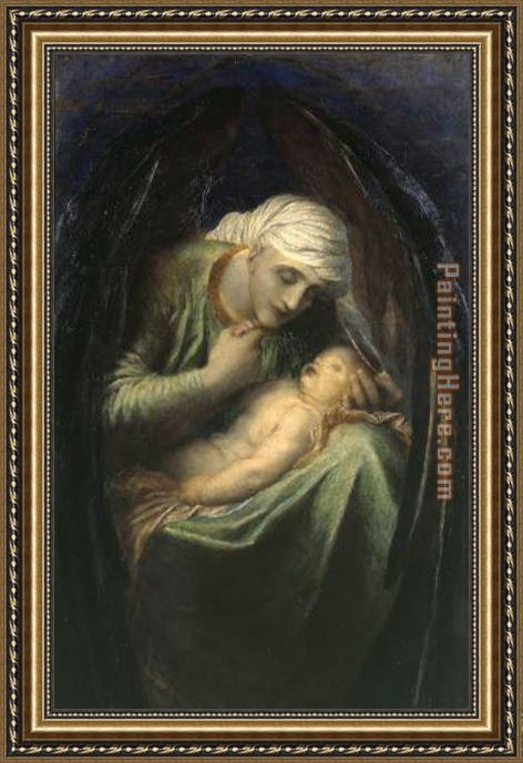 George Frederick Watts Death Crowning Innocence Framed Painting