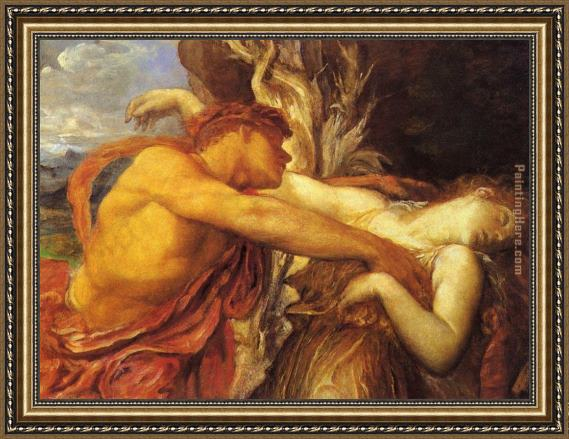 George Frederick Watts Orpheus and Eurydice detail Framed Painting