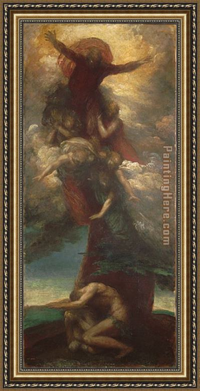 George Frederick Watts The Denunciation of Adam and Eve Framed Painting