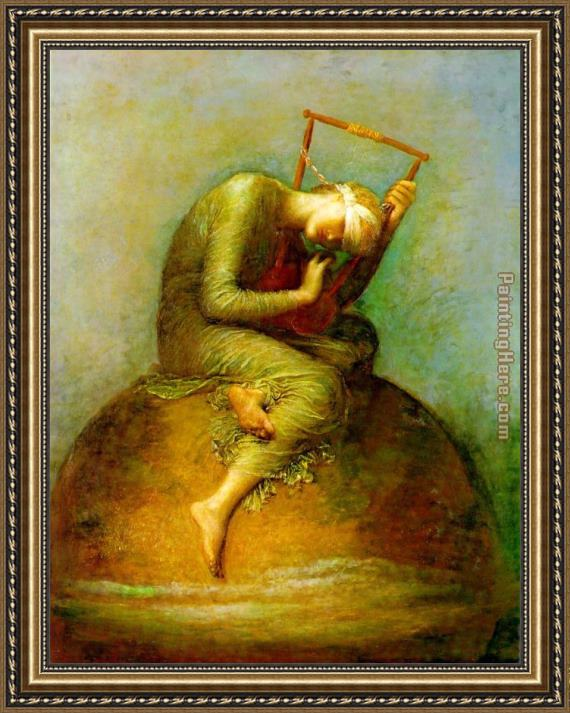 George Frederick Watts Watts Hope Framed Painting