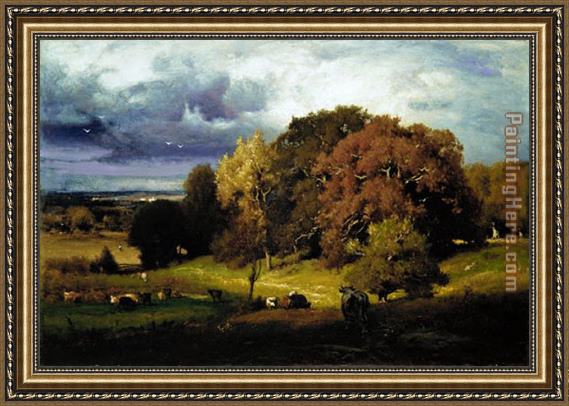 George Inness Autumn Oaks Framed Painting