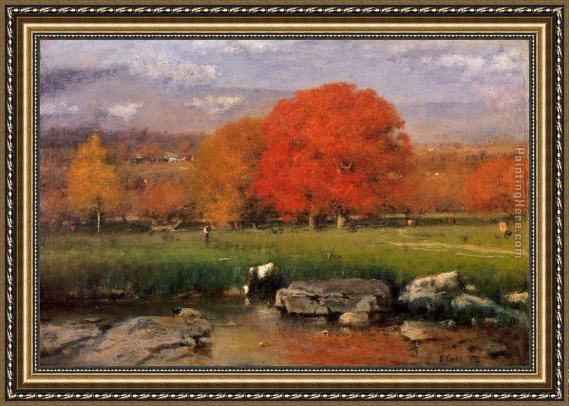 George Inness Morning Catskill Valley Framed Painting