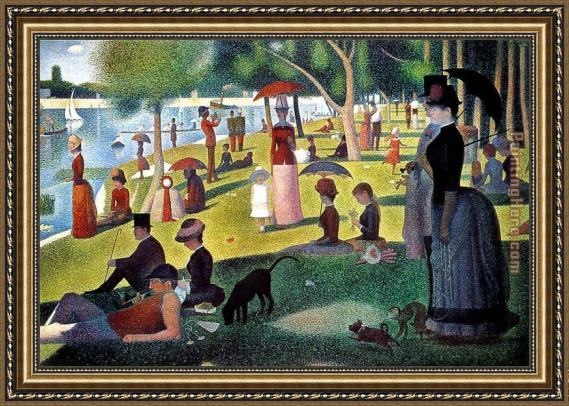 Georges Seurat Sunday Afternoon on the Island of la Grande Jatte Framed Painting