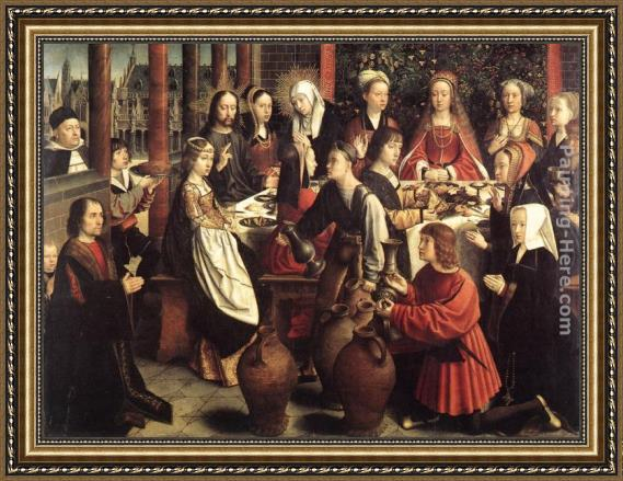 Gerard David The Marriage at Cana Framed Painting