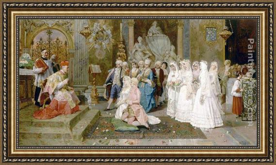 Giulio Rosati The Wedding Framed Painting