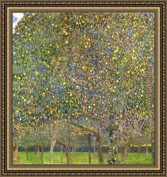 Gustav Klimt Pear Tree Framed Painting
