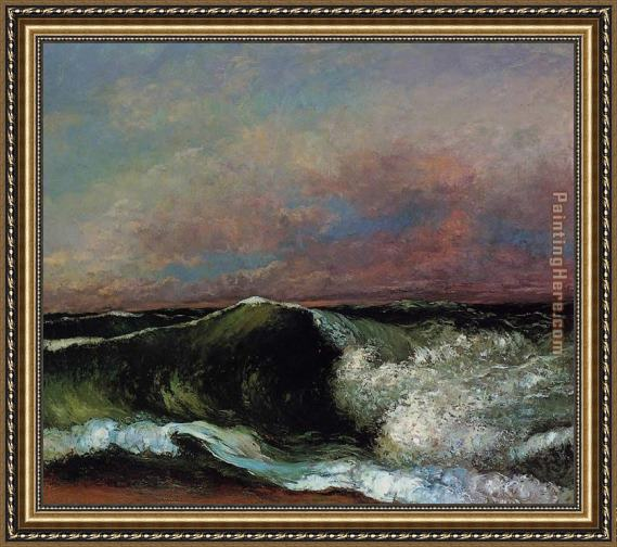 Gustave Courbet The Wave 6 Framed Painting
