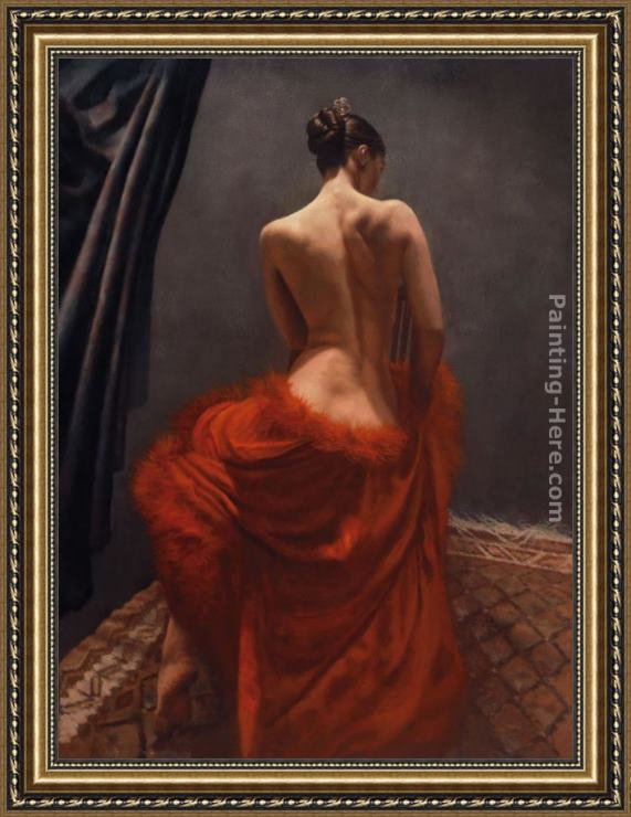 Hamish Blakely Camellia Framed Painting