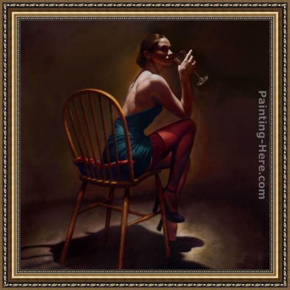 Hamish Blakely Sitting Pretty Framed Painting
