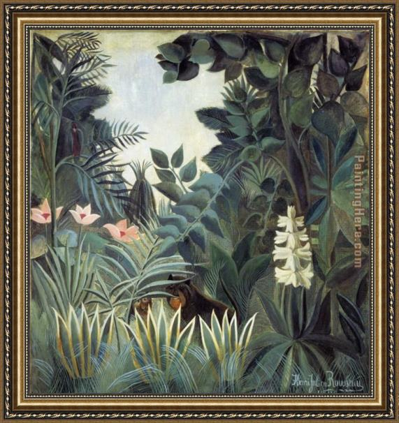 Henri Rousseau The Equatorial Jungle Framed Painting
