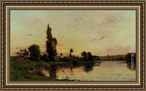 Hippolyte Camille Delpy Washerwomen On A Riverbank Framed Painting