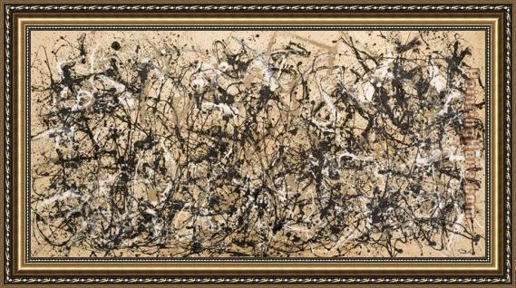Jackson Pollock Autumn Rhythm Number 30 Framed Painting