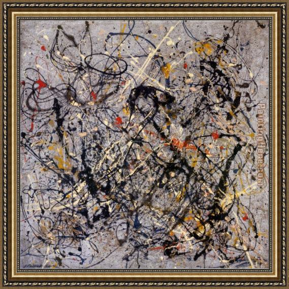 Jackson Pollock Number 18, 1950 Framed Painting