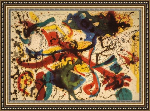 Jackson Pollock Untitled Framed Painting