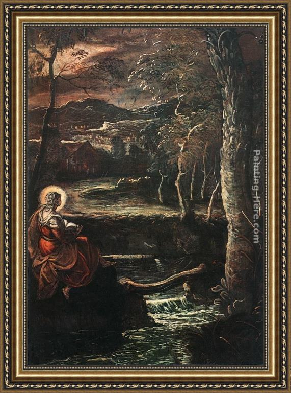 Jacopo Robusti Tintoretto St Mary of Egypt Framed Painting